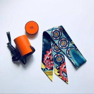 Hermes Twilly Savana Dance-Turquoise/Petrole/Jaune
